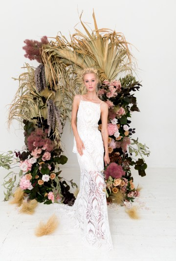 Modern Silk Gowns & Floral Wall Inspiration For The Hip Bride | Anastasia Fua elliftheartist 43