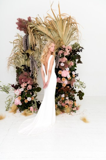 Modern Silk Gowns & Floral Wall Inspiration For The Hip Bride | Anastasia Fua elliftheartist 6