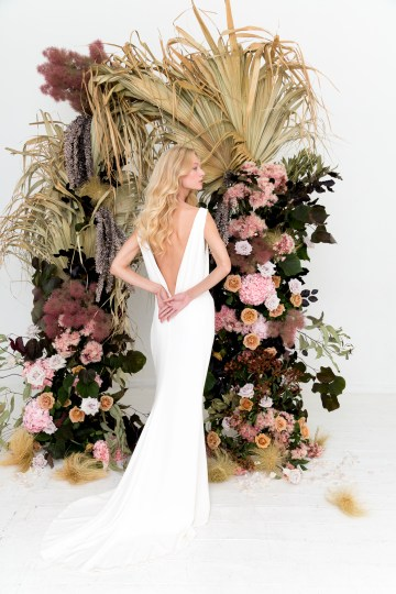 Modern Silk Gowns & Floral Wall Inspiration For The Hip Bride | Anastasia Fua elliftheartist 7