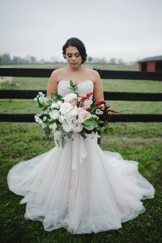 Romance In The Rain; Rustic Barn Wedding Ideas With Dramatic Florals | Flor de Casa Designs 2