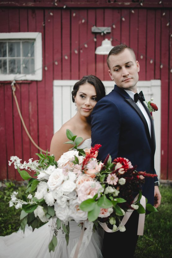 Romance In The Rain; Rustic Barn Wedding Ideas With Dramatic Florals | Flor de Casa Designs 3