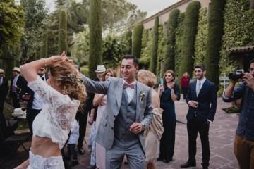 Rustic Barcelona Wedding Featuring Chic Bridal Separates | Visual Foto 17