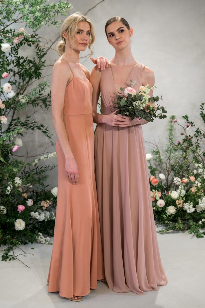 9c4e37fcf323 ... Dark Berry (five stars for the color naming team!) – the gowns share  the same flattering silhouettes from her last dazzling bridal party  collection.