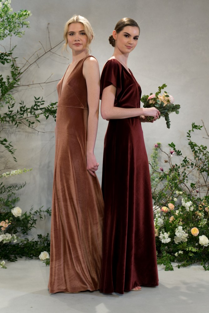 9a1a5b76a38f The bridesmaid collection continued Jenny's commitment to let your girls  have their red-carpet-moment (hallelujah!) With a focus on Fall colors –  like ...