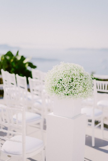 Classy Santorini Destination Wedding (With Amazing Caldera Views!) | Elias Kordelakos 10