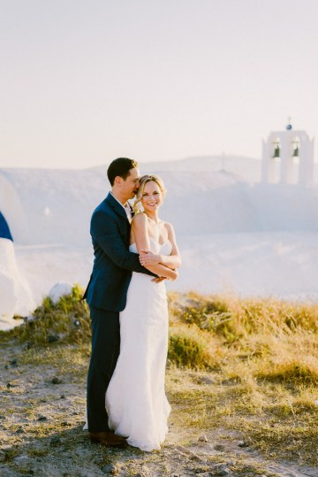 Classy Santorini Destination Wedding (With Amazing Caldera Views!) | Elias Kordelakos 21
