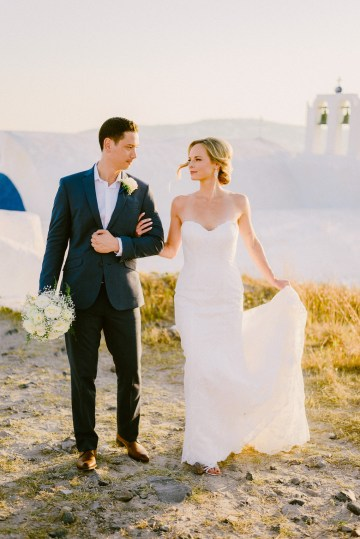 Classy Santorini Destination Wedding (With Amazing Caldera Views!) | Elias Kordelakos 23