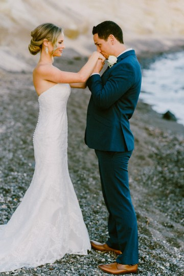 Classy Santorini Destination Wedding (With Amazing Caldera Views!) | Elias Kordelakos 27