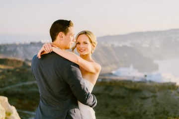 Classy Santorini Destination Wedding (With Amazing Caldera Views!) | Elias Kordelakos 47