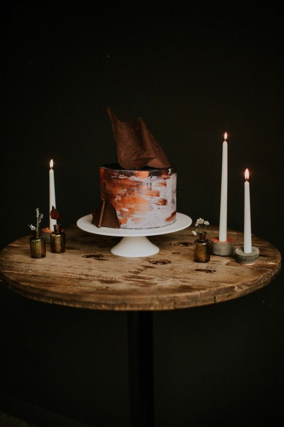 Industrial Cool Meats Winery Warmth; Candlelit Wedding Ideas | The Gifford Collective | Genesis Geiger 2