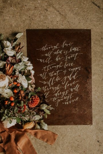 Industrial Cool Meats Winery Warmth; Candlelit Wedding Ideas   The Gifford Collective   Genesis Geiger 20
