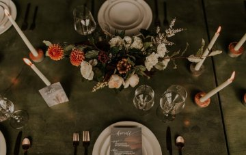 Industrial Cool Meats Winery Warmth; Candlelit Wedding Ideas | The Gifford Collective | Genesis Geiger 38