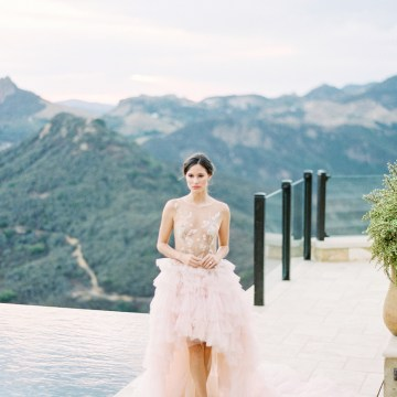 Malibu Wedding Inspiration With A Ruffled Pink Dress | Pura Vida Photography 26