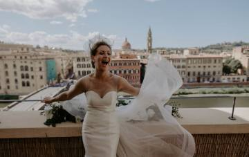 Wildly Romantic & Outrageously Fun Florence Elopement