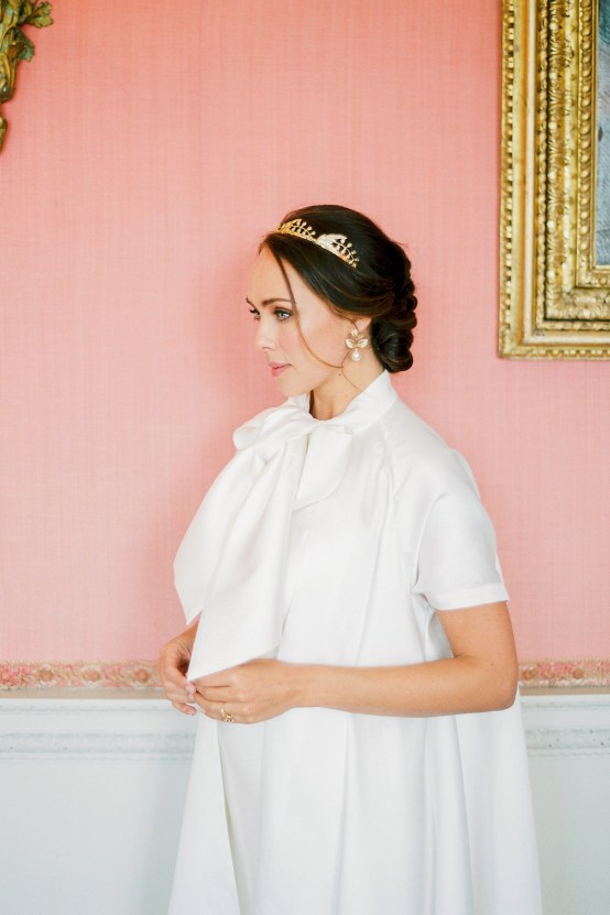 Citrus & Peach Chateau Wedding Inspiration | Lucy Davenport 24