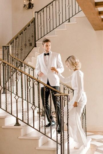 Fashion-forward Black & White Wedding Ideas From Malibu | Babsy Ly 17