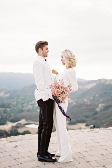Fashion-forward Black & White Wedding Ideas From Malibu | Babsy Ly 26