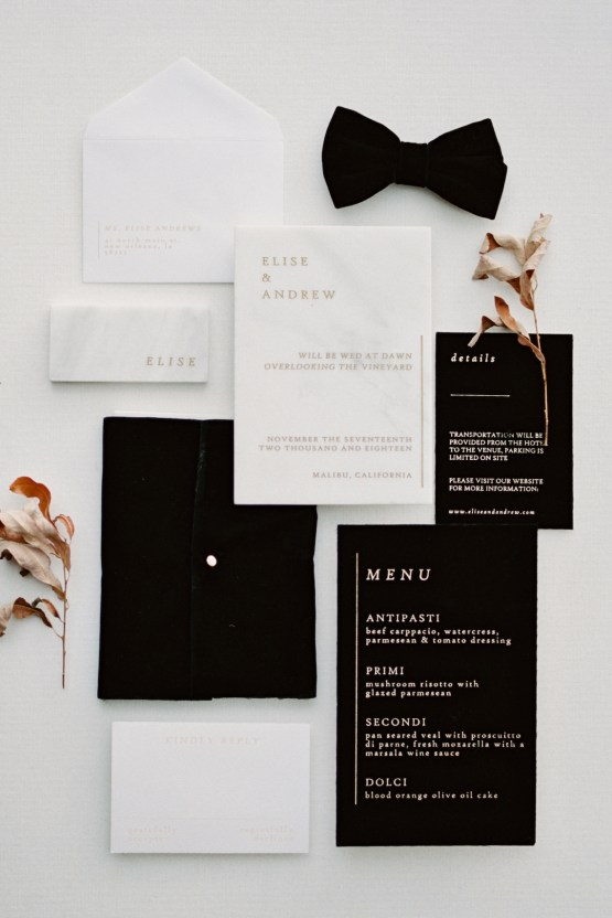 Fashion-forward Black & White Wedding Ideas From Malibu | Babsy Ly 9
