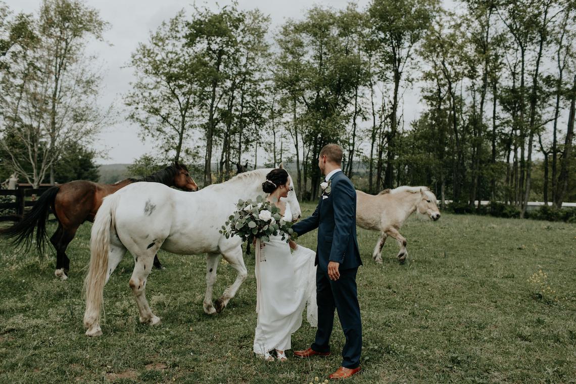 Laid-Back Barn Wedding (With Horses!)