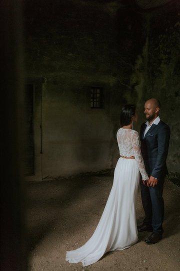 Monstera Leaves & Artichokes; A Hip Slovenian Wedding   Karen Willis Holmes Bridal   Aljosa Videtic 29