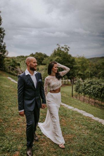 Monstera Leaves & Artichokes; A Hip Slovenian Wedding   Karen Willis Holmes Bridal   Aljosa Videtic 33