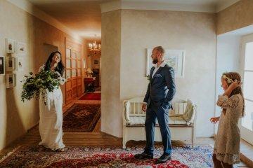 Monstera Leaves & Artichokes; A Hip Slovenian Wedding   Karen Willis Holmes Bridal   Aljosa Videtic 4