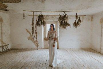 Monstera Leaves & Artichokes; A Hip Slovenian Wedding   Karen Willis Holmes Bridal   Aljosa Videtic 7
