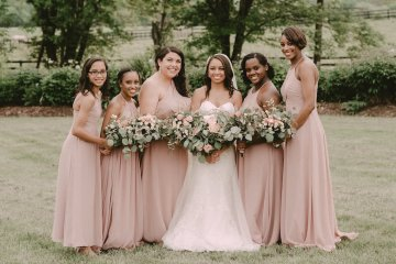 Pretty Pink Countryside Wedding (With Cute Aisle Signage) | Barkerture Photo 12