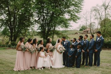 Pretty Pink Countryside Wedding (With Cute Aisle Signage) | Barkerture Photo 17