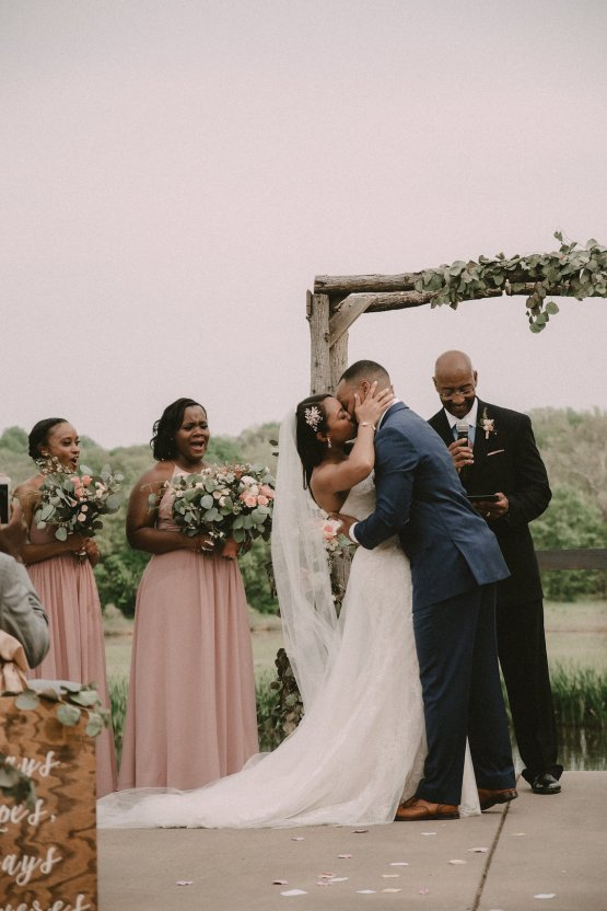Pretty Pink Countryside Wedding (With Cute Aisle Signage) | Barkerture Photo 28