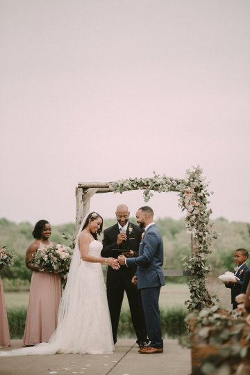 Pretty Pink Countryside Wedding (With Cute Aisle Signage) | Barkerture Photo 31