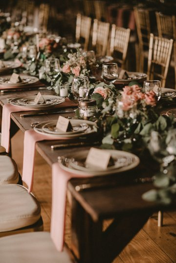 Pretty Pink Countryside Wedding (With Cute Aisle Signage) | Barkerture Photo 34