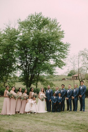 Pretty Pink Countryside Wedding (With Cute Aisle Signage) | Barkerture Photo 39