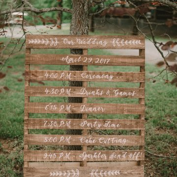 Pretty Pink Countryside Wedding (With Cute Aisle Signage) | Barkerture Photo 41