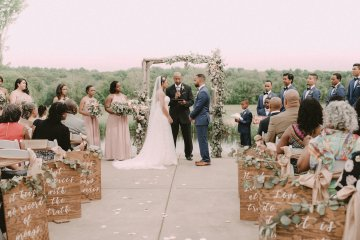 Pretty Pink Countryside Wedding (With Cute Aisle Signage) | Barkerture Photo 7