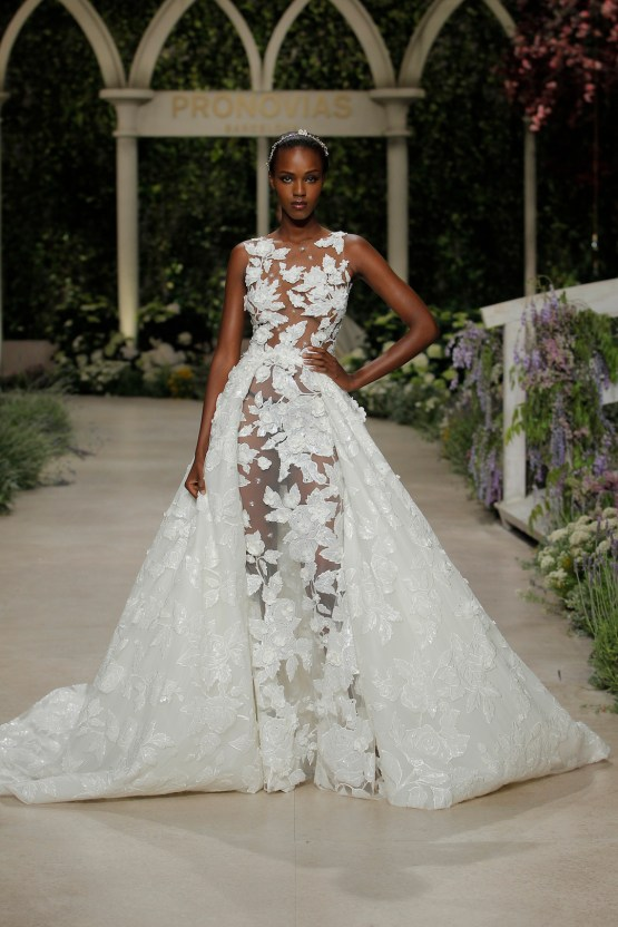 Pronovias 2019 In Bloom Wedding Dress Collection | Catia