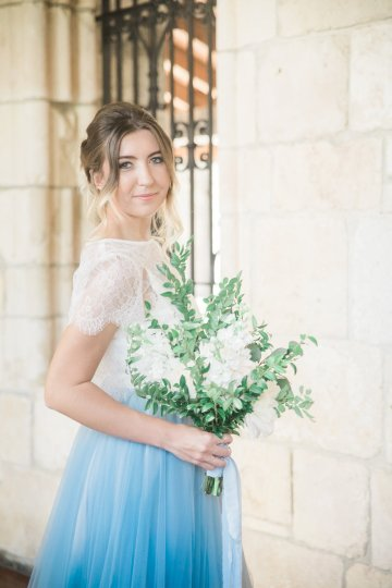 Romantic Watercolor Ideas Featuring A Blue Wedding Dress | Cana Rose Photography 16