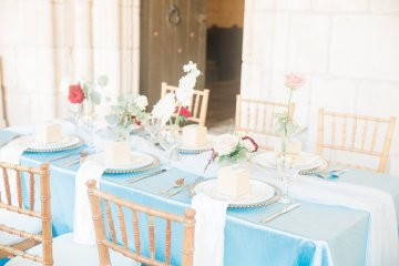 Romantic Watercolor Ideas Featuring A Blue Wedding Dress | Cana Rose Photography 2