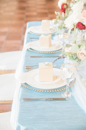 Romantic Watercolor Ideas Featuring A Blue Wedding Dress | Cana Rose Photography 23