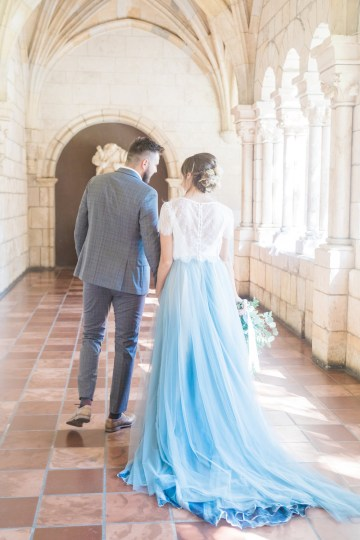 Romantic Watercolor Ideas Featuring A Blue Wedding Dress | Cana Rose Photography 8