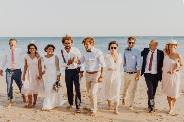 9 Guests 2 Dogs on a Beach in Portugal – A Wedding Film | Vanessa & Ivo 27