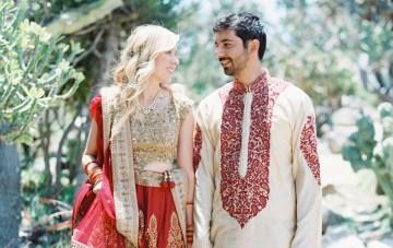 Hindu American Botanical Garden Fusion Wedding