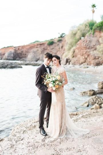 Earthy Organic Seaside Wedding Inspiration (& A Nude Wedding Dress) | George Liopetas 11