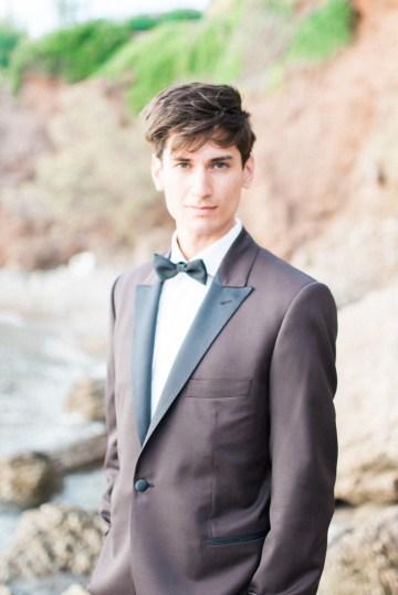 Earthy Organic Seaside Wedding Inspiration (& A Nude Wedding Dress) | George Liopetas 17