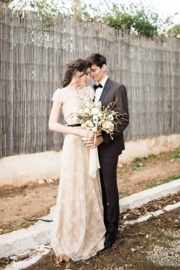 Earthy Organic Seaside Wedding Inspiration (& A Nude Wedding Dress) | George Liopetas 22