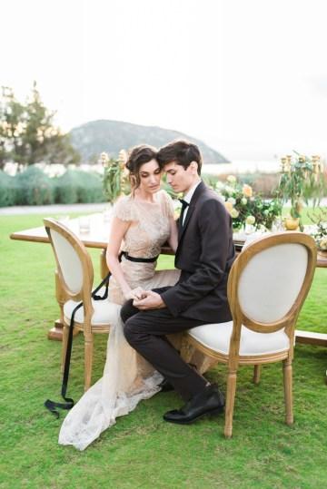 Earthy Organic Seaside Wedding Inspiration (& A Nude Wedding Dress) | George Liopetas 37