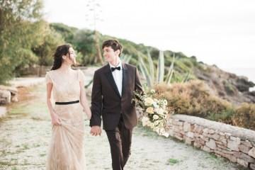 Earthy Organic Seaside Wedding Inspiration (& A Nude Wedding Dress) | George Liopetas 44