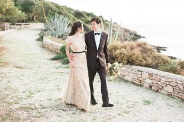 Earthy Organic Seaside Wedding Inspiration (& A Nude Wedding Dress) | George Liopetas 45