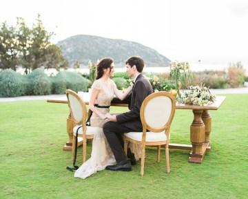 Earthy Organic Seaside Wedding Inspiration (& A Nude Wedding Dress) | George Liopetas 47