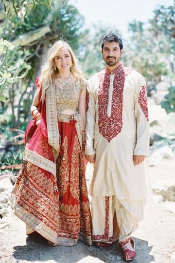 Hindu American Fusion Wedding (With Peonies) | Bramble and Vine 13